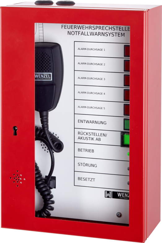 EN 54‑16 / ÖNORM F‑3033 zertifizierte Feuerwehrsprechstelle