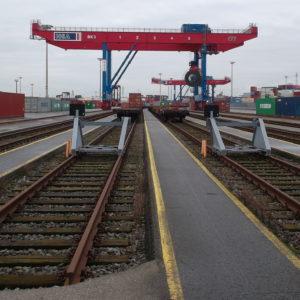 Gleiswarnanlage für die Hamburger Hafen und Logistik AG